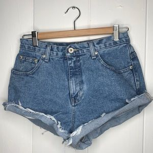 VTG High Waisted Cutoff Jean Shorts size 26